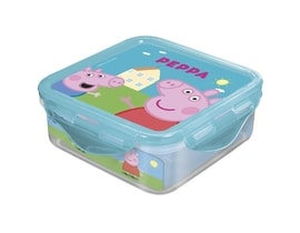 Box svačinový PEPPA PIG 500 ml, 12,3x12,3x6,7 cm